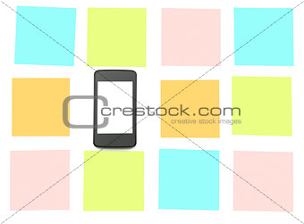 Smartphone with stickers