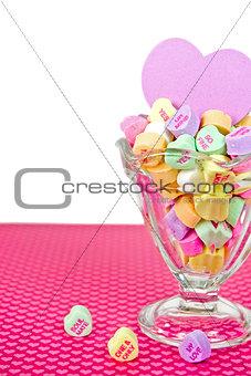 Valentine candy heart sundae