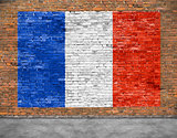 Flag of France and foreground