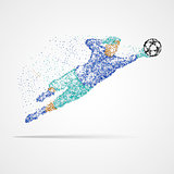 Football, soccer, goalkeeper