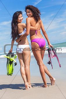 Beautiful Bikini Women Girls At Beach