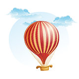 image of the balloon in a strip in the clouds