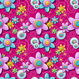Seamless floral pattern of buttons