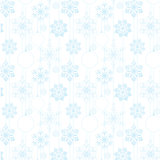 Seamless pattern of snowflakes and Christmas tree balls