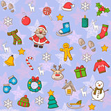 Happy New Year and Merry Christmas pattern