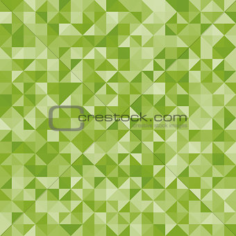 Abstract background green triangles