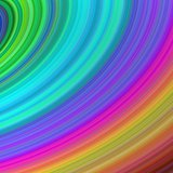 Rainbow curved fractal stripes