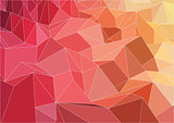 Triangle abstract flat colorful background