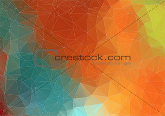 Abstract retro color triangle background