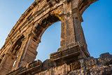 Architectural Details of Pula Coliseum, Croatia