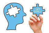 Set Goals Puzzle Head Concept