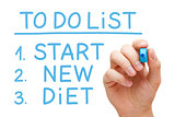 Start New Diet To Do List
