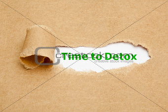 Time to Detox Torn Paper Concept