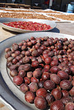 Dried nutmeg seeds