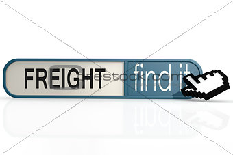 Freight word on the blue find it banner