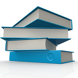 Stack of blue books