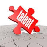 Talent word with puzzle background