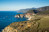 Pacific Ocean Coastline and Bixby Bridge, Big Sur, California