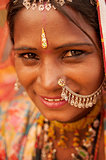 Traditional Indian girl smiling