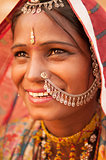 Traditional Indian female smiling