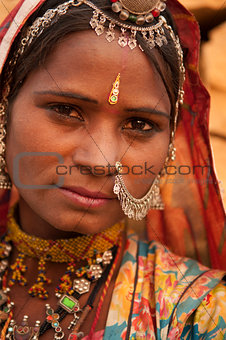 Portrait of traditional Indian girl