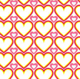 Wrapping paper Valentines Day. Heart shape seamless background