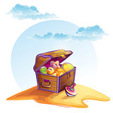 Illustration of treasure chest