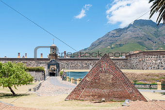 Powder magazine in front of the Castle of Good Hope in Cape Town