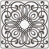 black white symmetrical floral pattern for engraving