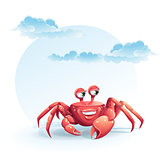 illustration merry crab