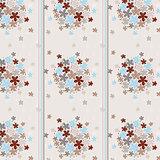 Seamless texture flowered wallpaper and strip