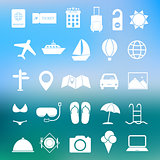 Simple travel icon set vector