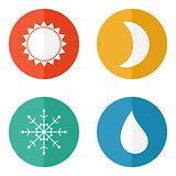 Weather icons set