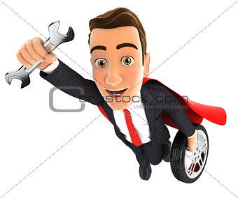 3d mechanic superhero