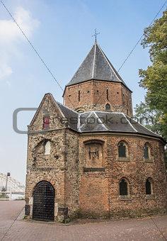 Sint Nicolaas church and waalbrug in Nijmegen