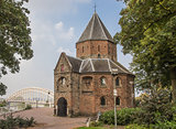 Sint Nicolaas church and waalbrug in Nijmegen