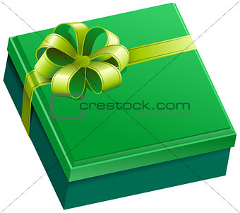 Green square gift box
