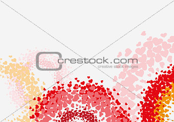 Abstract background with heart shape