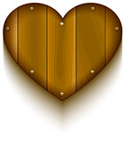 Wooden heart symbol of love