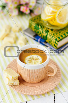 A Cup of Lemon and White Chocolate Coffee