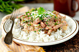 Pork stroganoff with sour cream