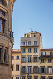 Old houses with blinds in the historic center of Florence