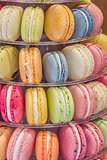 Macarons in different colors and flavors