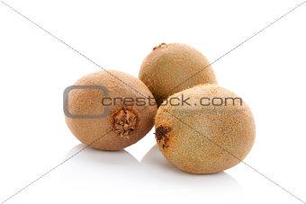 Kiwi fruits isolated.