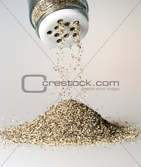 Black Pepper Grains Falling