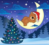 Christmas sleeping bear theme image 1