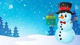 Christmas snowman theme image 7