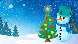 Christmas snowman theme image 8