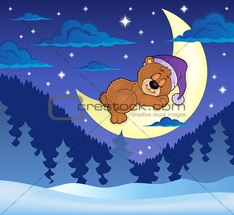 Sleeping bear theme image 8