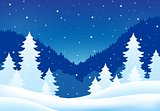Winter theme landscape 5